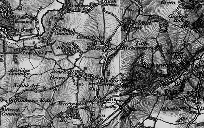 Old map of Bakers End in 1896