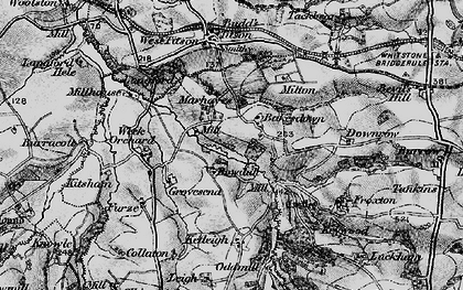 Old map of Bakesdown in 1896