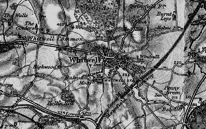 Old map of Whitwell Common in 1899