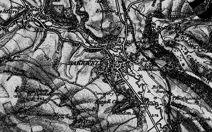 Old map of Bakewell in 1896
