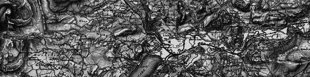 Old map of Bala in 1898