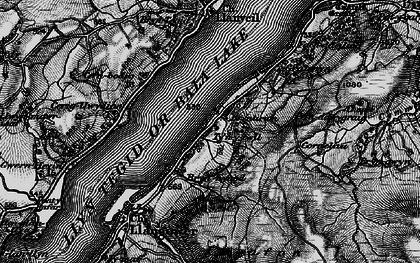 Old map of Bala Lake Railway in 1898