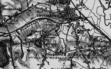 Old map of Balance Hill in 1897
