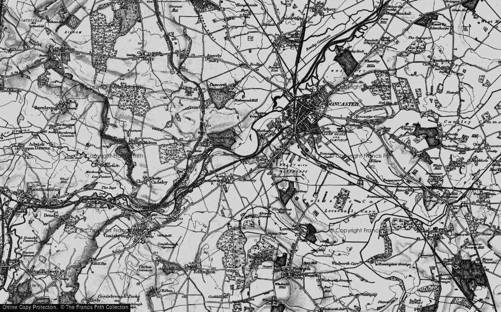 Old Map of Balby, 1895 in 1895