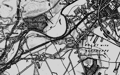 Old map of Balby in 1895