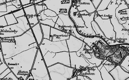 Old map of Baldersby St James in 1898
