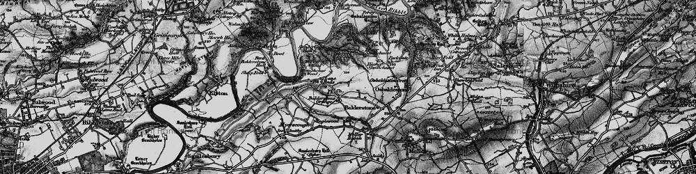 Old map of Willwife Wood in 1896