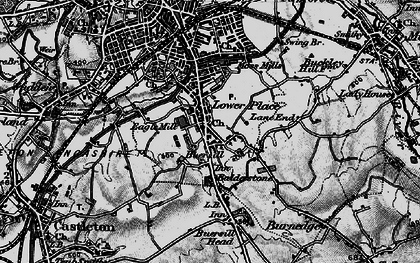 Old map of Balderstone in 1896