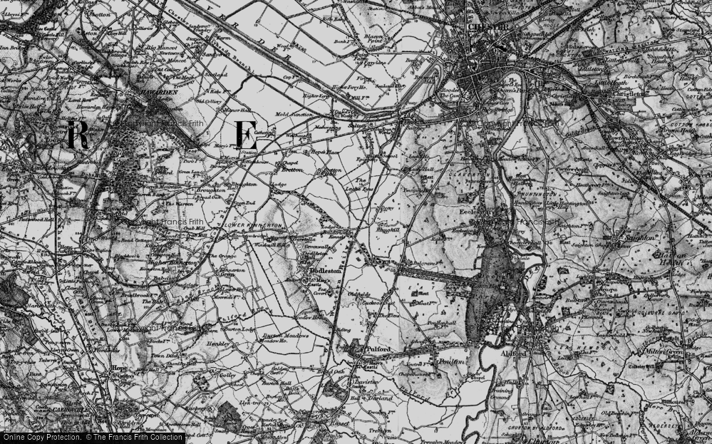 Old Map of Balderton, 1897 in 1897