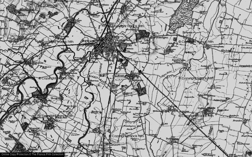 Old Map of Balderton, 1899 in 1899