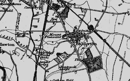 Old map of Balderton in 1899