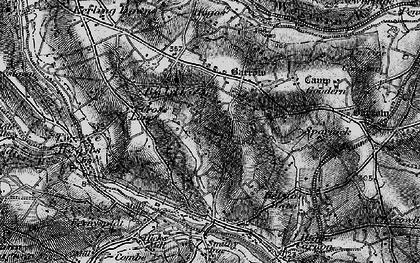Old map of Baldhu in 1895
