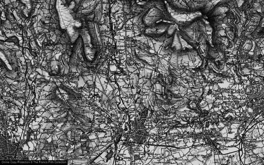 Old Map of Baldingstone, 1896 in 1896