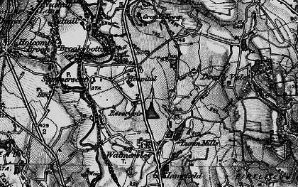 Old map of Baldingstone in 1896
