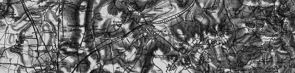 Old map of Baldock in 1896