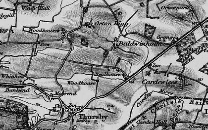 Old map of Baldwinholme in 1897
