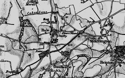 Old map of Bale in 1899