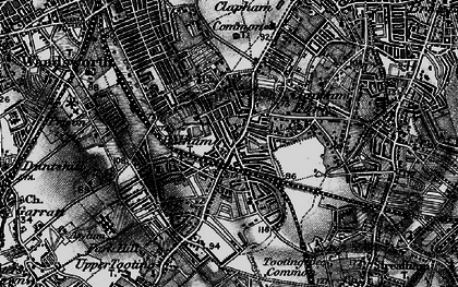 Old map of Balham in 1896