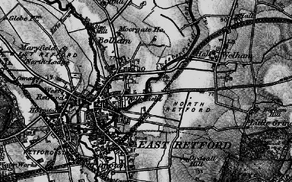 Old map of Balk Field in 1899