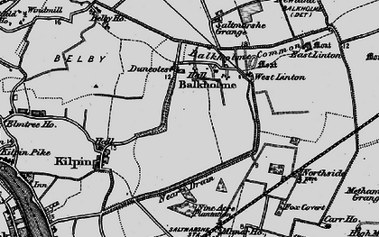 Old map of Balkholme in 1895