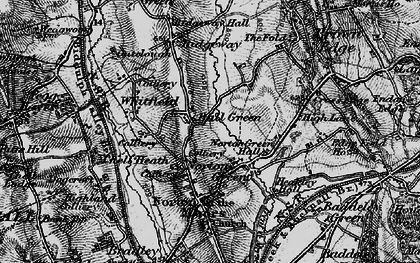 Old map of Ball Green in 1897