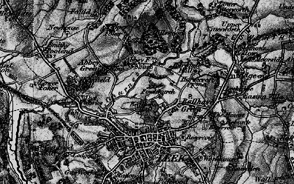 Old map of Ball Haye Green in 1897