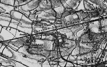 Old map of Ball o' Ditton in 1896