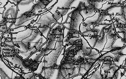 Old map of Ballard's Green in 1899