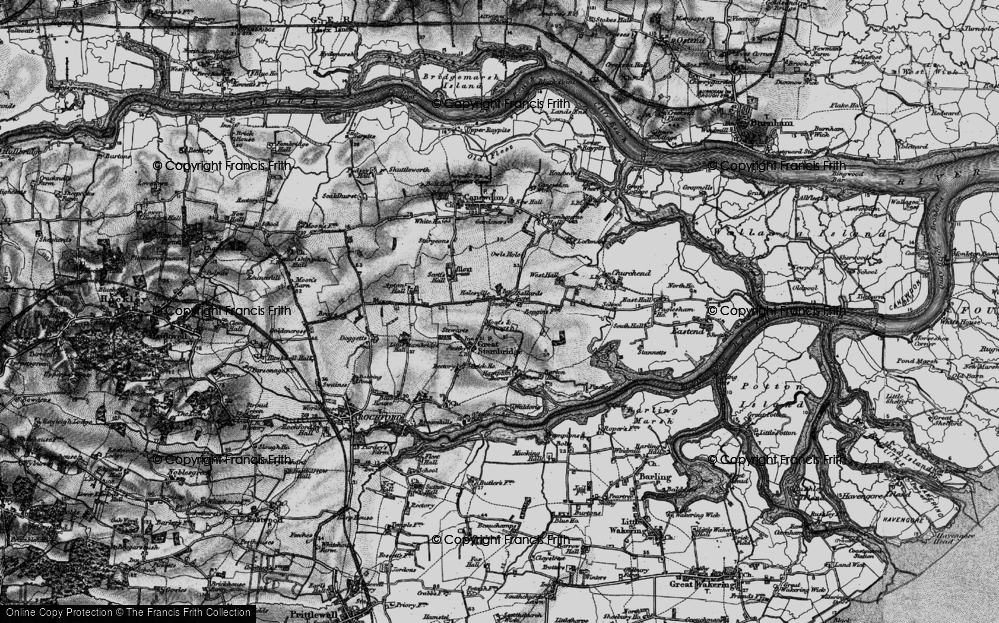 Old Map of Ballards Gore, 1895 in 1895