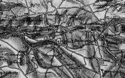 Old map of Ballhill in 1896