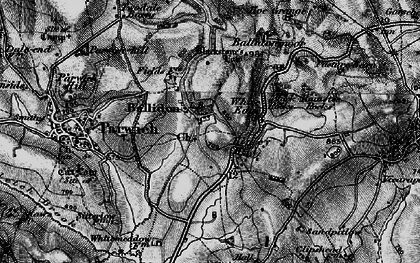 Old map of Ballidon in 1897