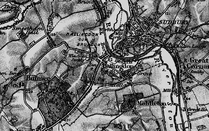 Old map of Ballingdon in 1895