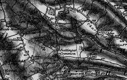Old map of Ballinger Common in 1896