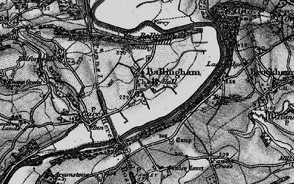 Old map of Ballingham in 1896