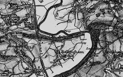 Old map of Ballingham Hill in 1896