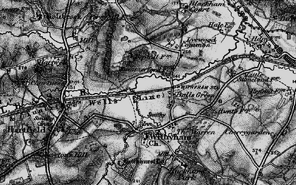 Old map of Balls Green in 1895