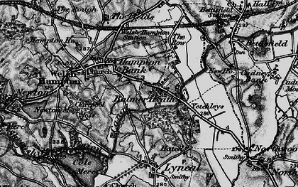 Old map of Balmer in 1897