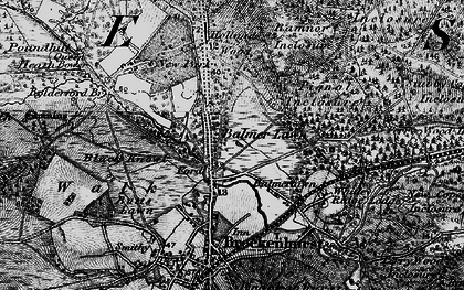 Old map of Balmerlawn in 1895