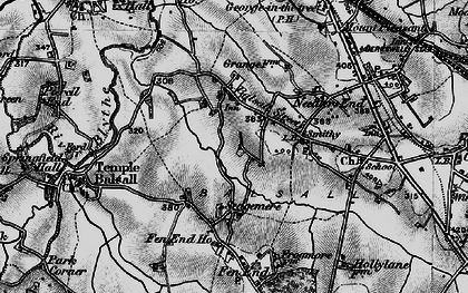 Old map of Balsall Street in 1899