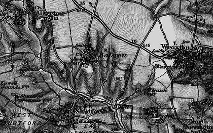 Old map of Balscote in 1896