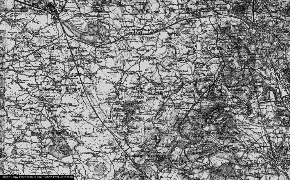 Old Map of Balterley, 1897 in 1897