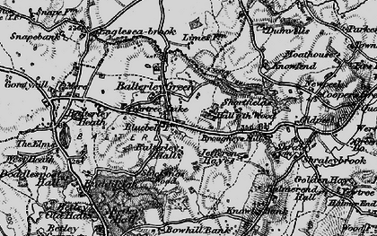 Old map of Balterley in 1897