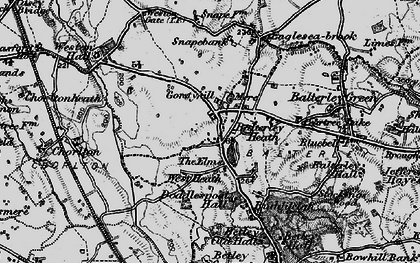 Old map of Balterley Heath in 1897