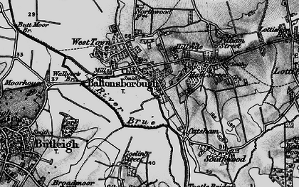 Old map of Baltonsborough in 1898