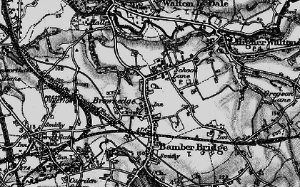 Old map of Bamber Bridge in 1896