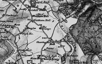 Old map of Bamber's Green in 1896