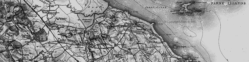 Old map of Bamburgh in 1897