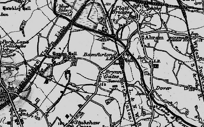 Old map of Bamfurlong in 1896