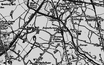 Old map of Bamfurlong in 1896