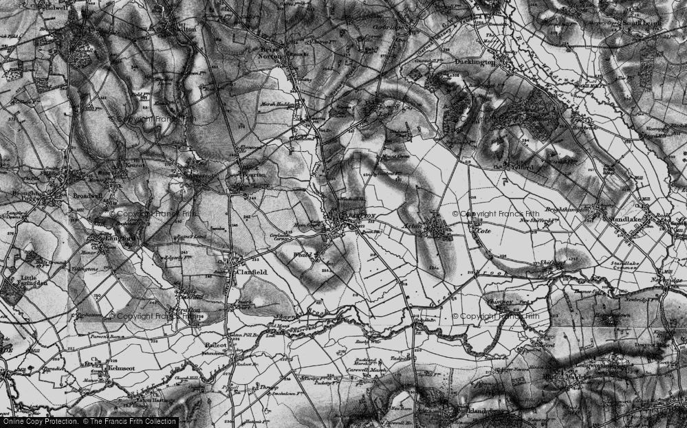 Old Map of Bampton, 1895 in 1895